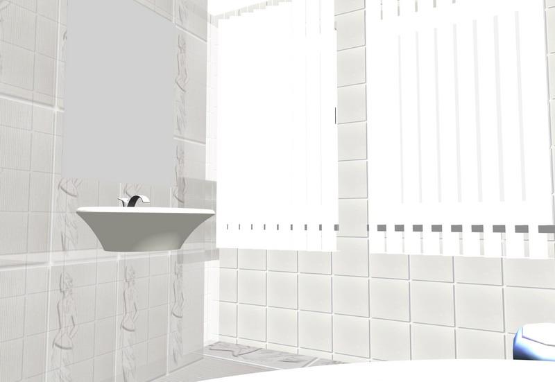 Predlažemo modernu kupaonicu sa vrlo profinjenim, čak klasičnim