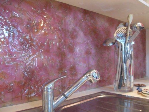 Stakleni kuhinjski zid 06