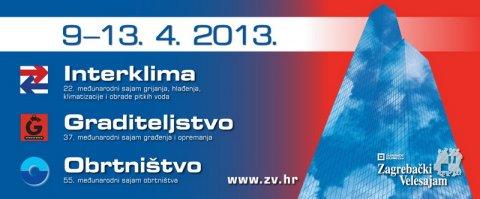 Najava sajmova: Interklima, Graditeljstvo, Obrtništvo – 9.-13.04.2013.